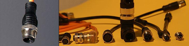 Einzelstecker M8 und M12 in Metall- und Kunststoffausführung IP67