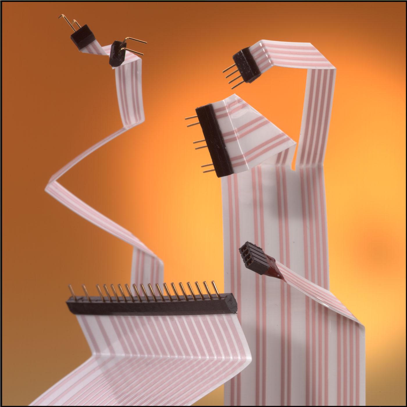 Flachbandleitung mit vergossenen Kontakten