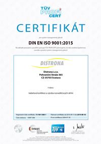 TÜV Zertifikat - englisch